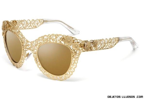 gafas de lujo talladas