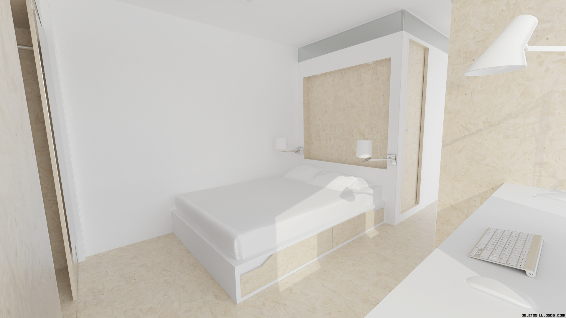 habitaciones pequeñas minimalistas