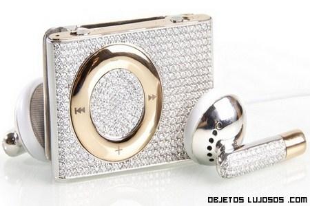 iPod de moda con oro rosa y diamantes