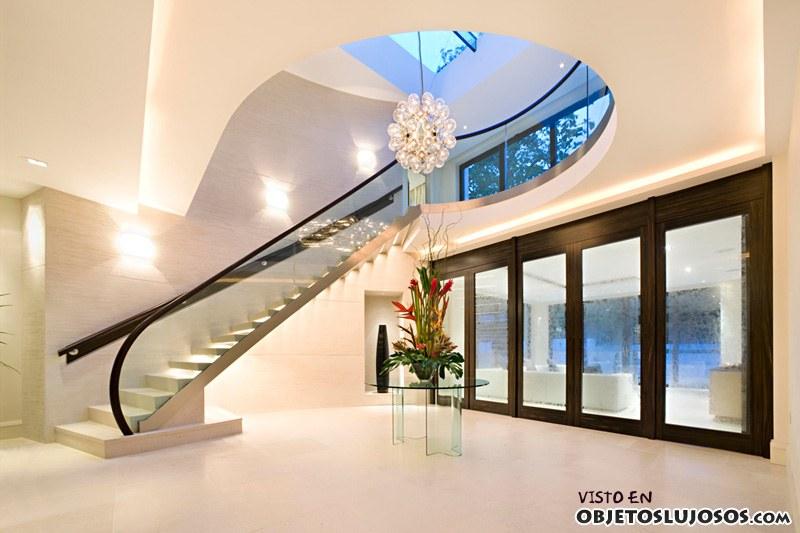 interior de lujo con escaleras minimalistas
