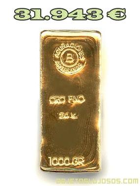 Lingote de Oro de 30.000 Euros