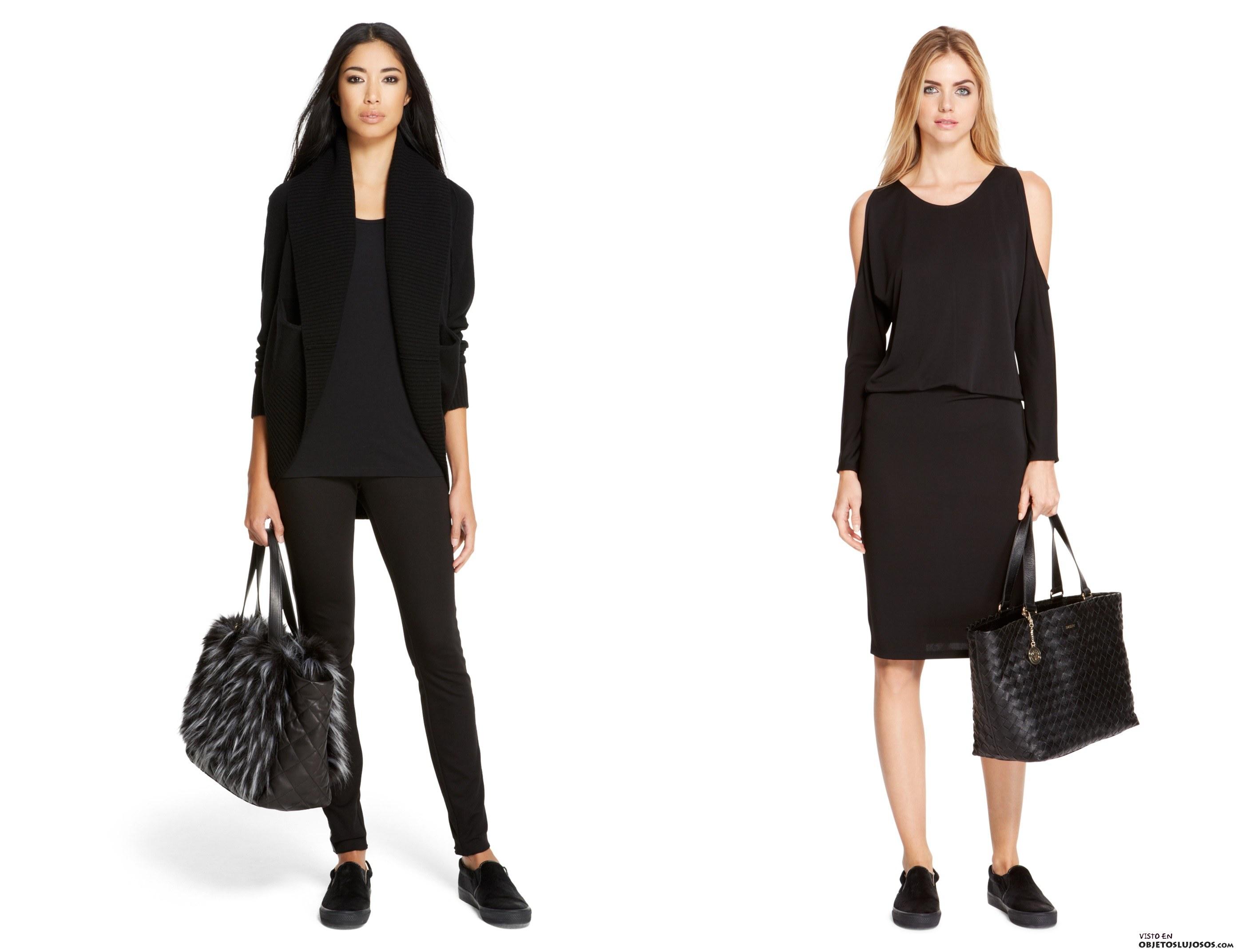 Looks en color negro DKNY