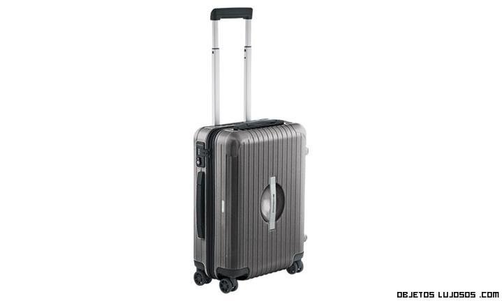 maletas de color gris lujo