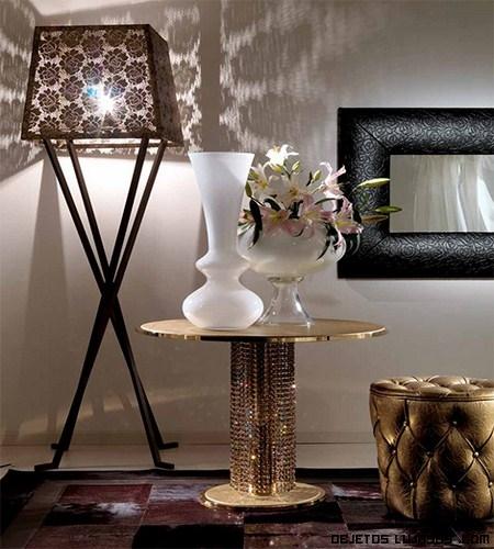 Mesas modernas de acabado en oro