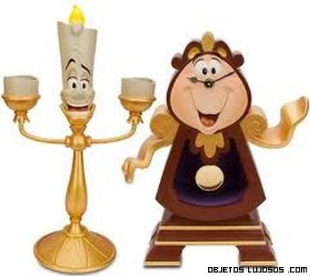 candelabro y reloj Diseny coleccionistas