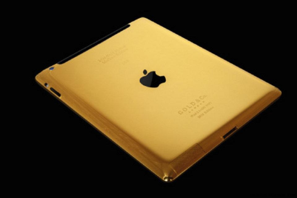 portátiles de oro y brillantes