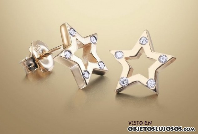 pendientes estrella tiramisu with diamonds