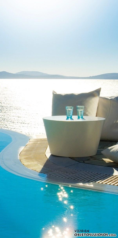 piscina resort de Mykonos