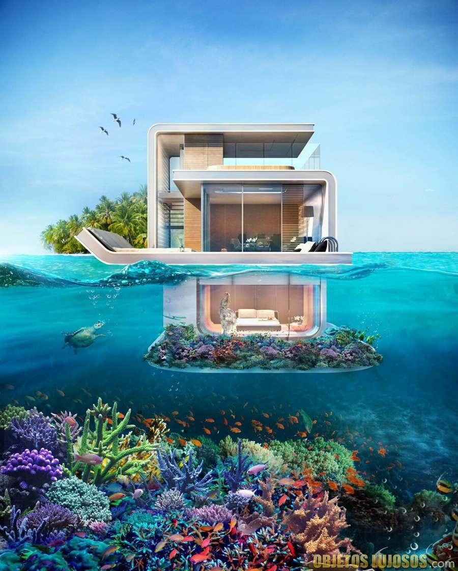 proyecto de casa flotante en dubai