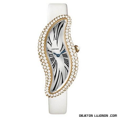 relojes Cartier con diamantes y zafiros