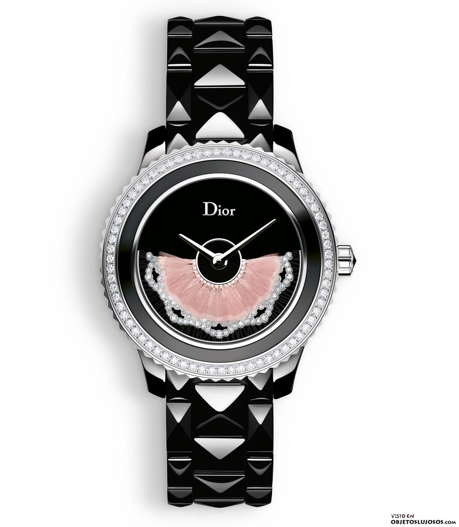 reloj Dior con diamantes