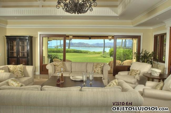 salón casa Obama en Hawai