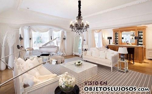 salón de la mansión más cara