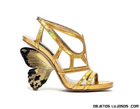 sandalias de tiras en dorado