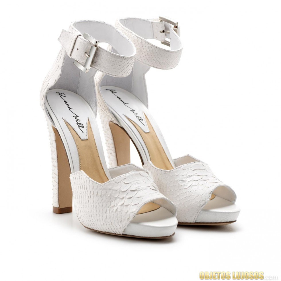 sandalias en color blanco de ed and will