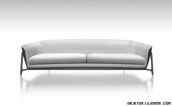 sofás de lujo en colores grises