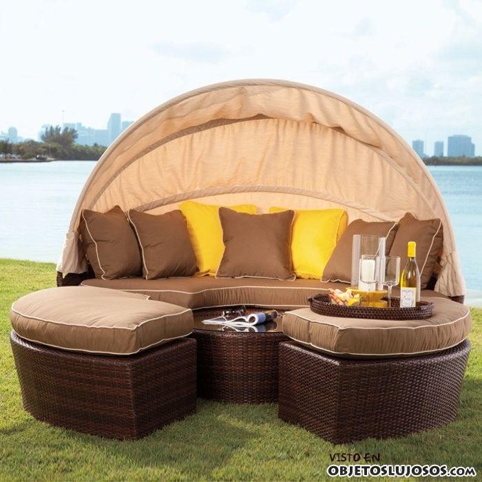 sofás de lujo para exteriores