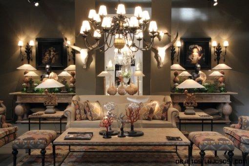 salones clásicos con sofás de lujo