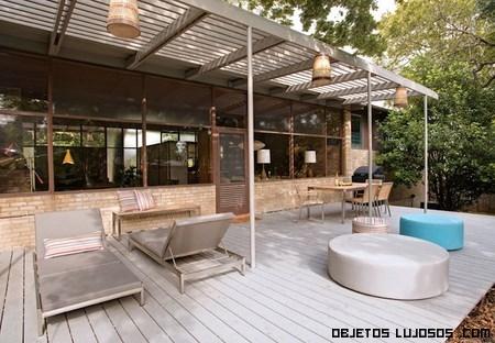 terrazas de lujo en casas de lujo