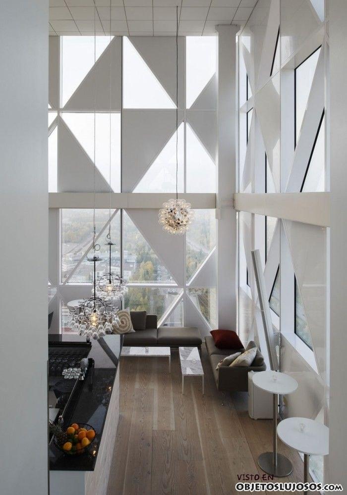 ventanas originales en espacios modernos