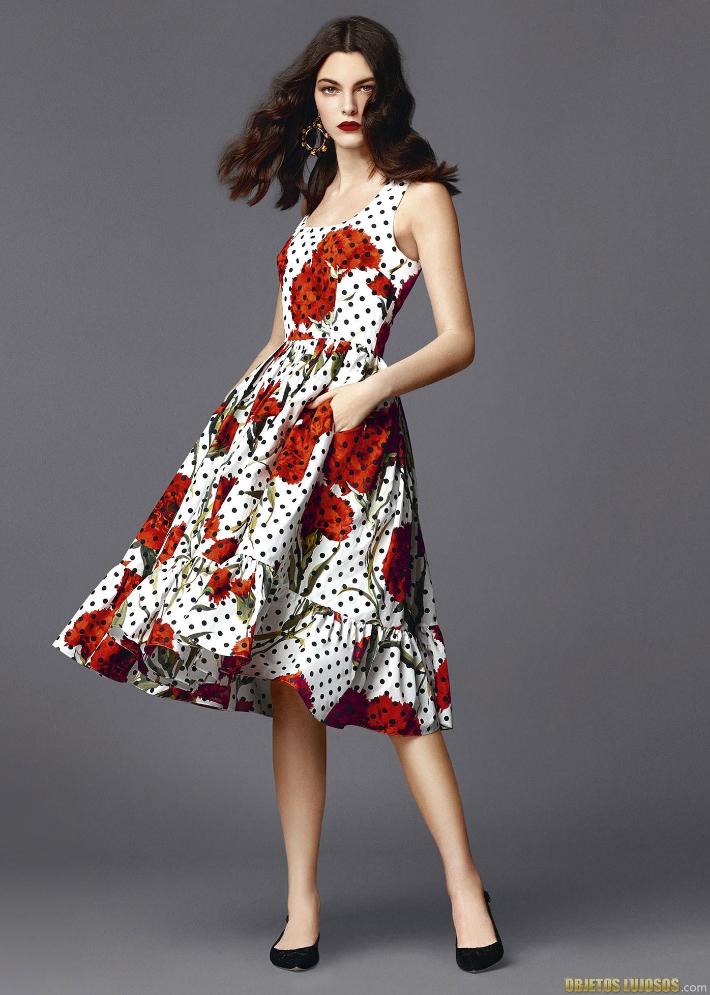 vestido blanco y rojo de dolce&gabbana