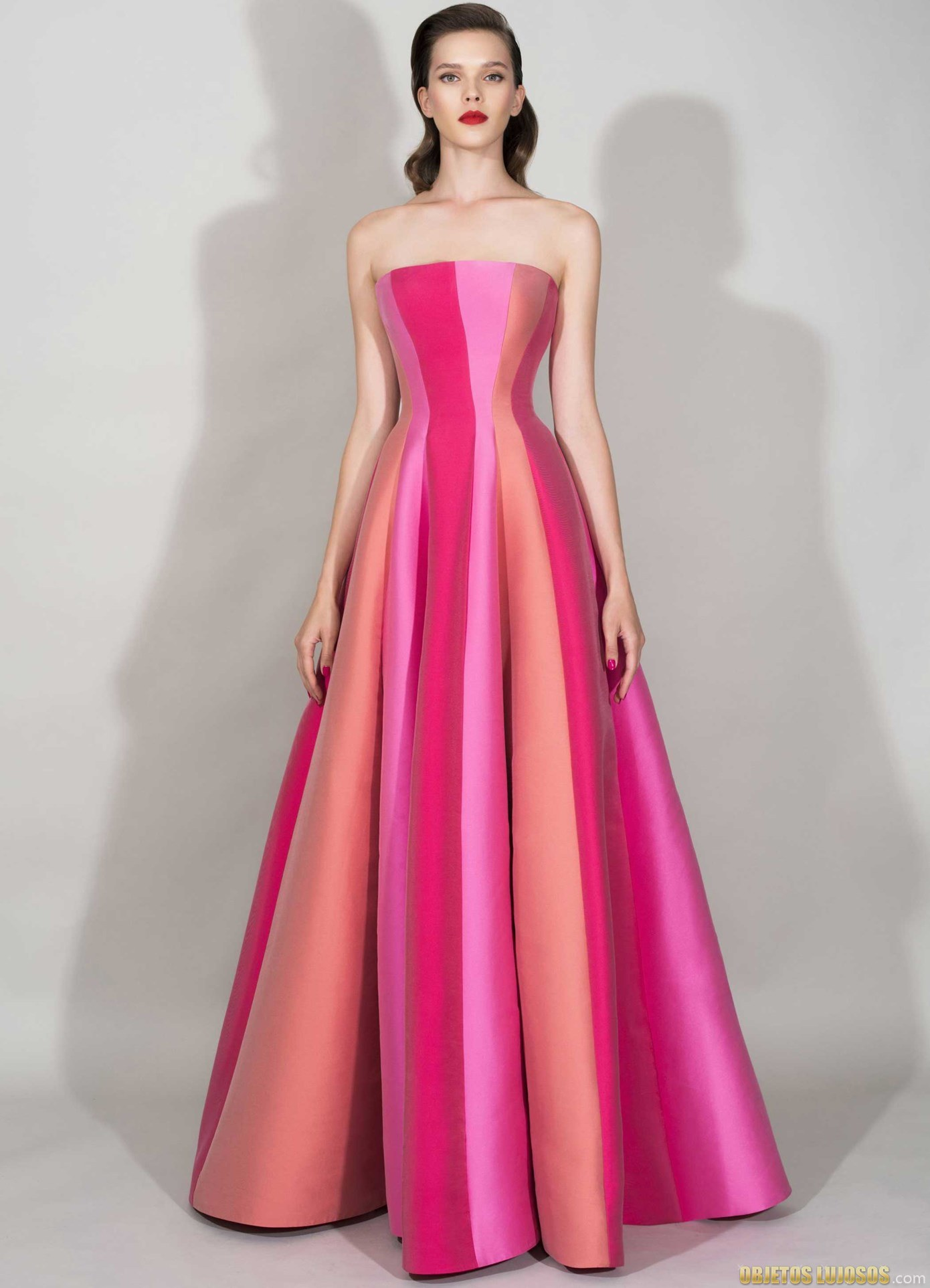 vestido combinado de zuhair murad