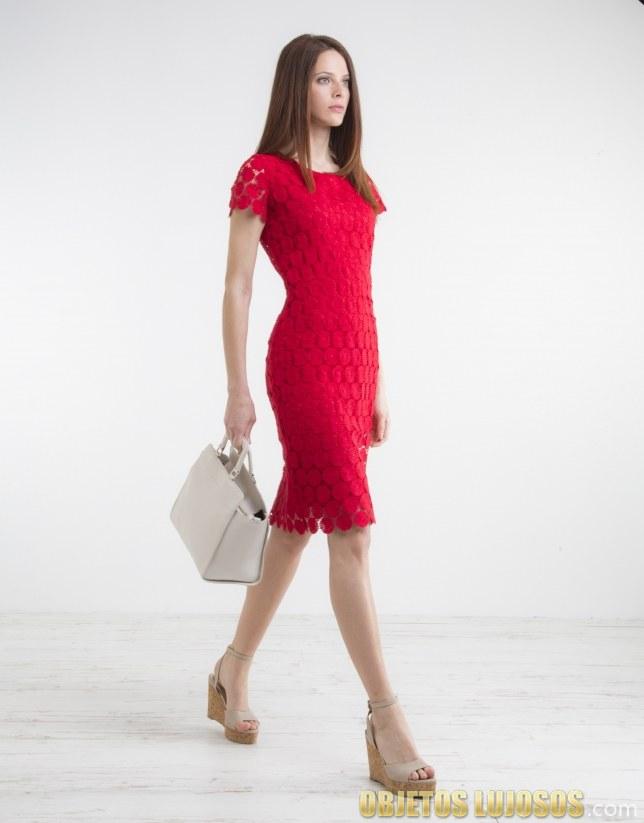 vestido rojo roberto verino