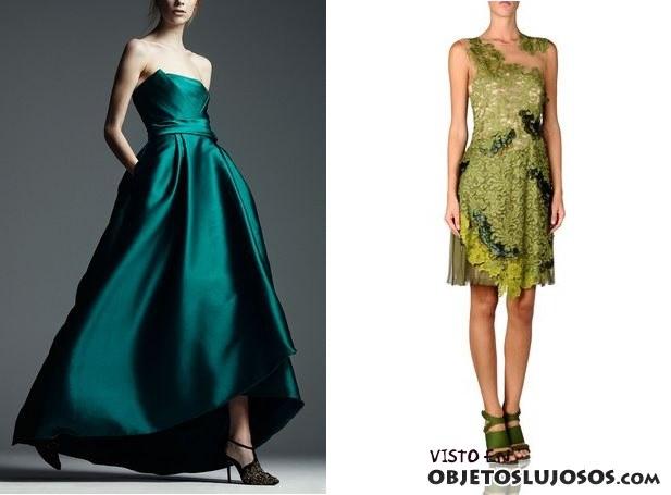 vestidos color verde Alberta Ferretti