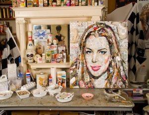 Un retrato exclusivo hecho con basura