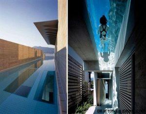 Casa con piscina superior