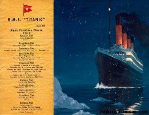 La última cena del Titanic