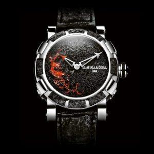 Relojes con ceniza de volcán