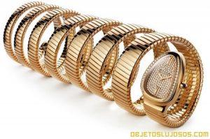 Reloj de oro y diamantes de Bulgari
