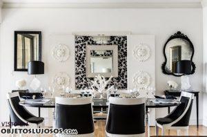 Comedores en color blanco y negro