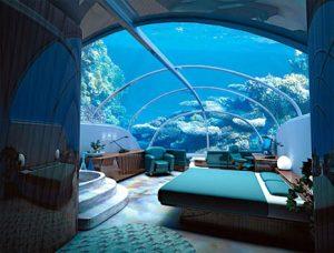 Hotel Lujoso de 7 Estrellas bajo el mar